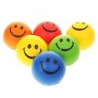 Антистрессовые разноцветные мячики в виде смайлов