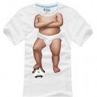 Мужская х/б футболка с принтом в виде туловища пупса
