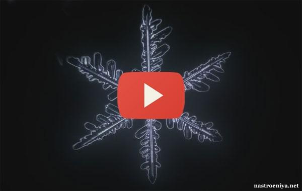 Видео: Как появляются снежинки