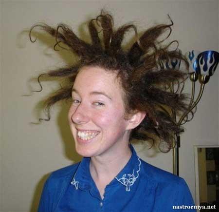Женская причёска хулиганская