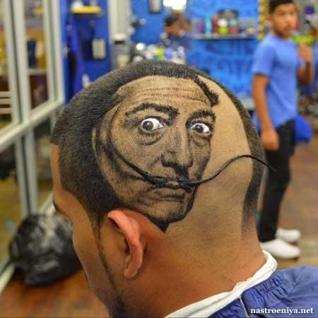 Весёлая мужская причёска
