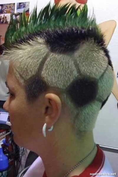 Весёлая причёска для женщины